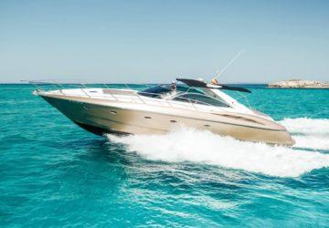 Sunseeker Camargue 50 cruising Ibiza
